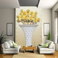 administration definition - Custom Any Size D Wall Mural Wallpapers Living Room Sofa Entrance High definition Relief Simple Golden Rose D Photo Wallpaper