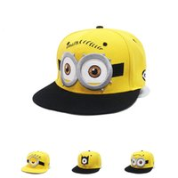 Wholesale New cartoon Minions Child Snapbacks hats Ball Caps Gold fitted Hip hop caps Knitting Beanies Hat for boys