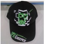 Spring / Autumn mesh snapback hats - 2015 Minecraft JJ Monster Creeper caps jinx for children kids girl boy snapback Adjustable baseball hats mesh sun caps Peaked Caps