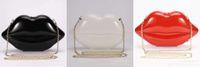 bag patchwork pattern - Bridal Bag New Popular Big Lips Pattern Women Bag Clutch Chain Shouder Bag Evening Bolsas Lips Shape PU Leather Handbags Z