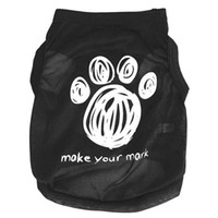 Wholesale Attractive Dog Footprints Pet Clothes Summer Vest Sleeveless Dog T Shirts Apparel Apr