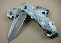 OEM BOKER X17 caza plegable del cuchillo 57HRC acero inoxidable 440 Mango de aluminio tácticos acampan cuchillos de la supervivencia
