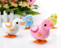 Wholesale Lovely vintage toy Plush Chicken Toy for Children Kids Wind Up Chicken Toys Baby Clockwork Chicken
