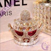 air freshener dolls - 2015 New Diamond Crown Style Air Freshener Car Perfume Bottle Car Decoration