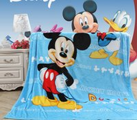 Wholesale Retail Cartoon Mickey KT Princess Toddler Nap Mat Blanket x100CM Boys Girls Warm Blanket for Summer Autumn Winter