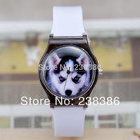 battery rock band - TGJW559 White Silicone Band Quartz Watch SL68 Movement Wrist Watch Unisex Retro Wolf Fashion Watch Punk Rock Style