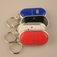 Wholesale key finder tags wireless smart whistle sound control keychains finder led light led flashlight find wallet pet tracker Locator gift