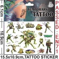 baby feet stickers - Teenage Mutant Ninja Turtles The Avengers Anime Cartoon Tattoo Stickers Monster high Body complete tattoo kit Women Baby Children s Gif