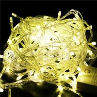 Wholesale Chain Fairy String Lights AC110V V IP44 FT M LED Warm White Red Yellow Blue Green Purple Pink Multi Color Christmas Light