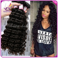 Wholesale 50 Off Dyeable Peruvian Malaysian Mongolian Hair Products Brazilian Virgin Hair Deep Wave or Bundles per Human Hair Weave No Tangle