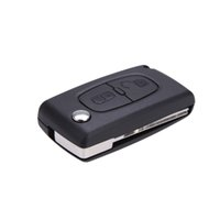 Wholesale Car Key Shell Replacement Buttons Flip Remote Key Case With Groove Blank Cover for Peugeot