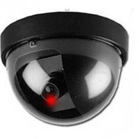 Wholesale HOT Fake Dummy Dome Surveillance CAM Dummy Indoor Security CCTV Camera flashing for Home Camera LED