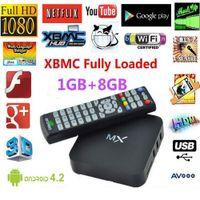 Wholesale CS838 MX2 AM6 Android Amlogic AML8726 MX Dual Core TVBox AV LAN G DDR3 GB TV BOX