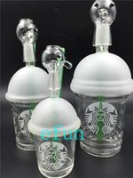 water pipes - Starbuck Cup Glass Smoking pipes Original Opaque Bright green dab concentrate oil rig glass bong glass dome and nail Hookah glass water pipe