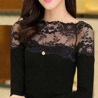 Cheap New Fashion Brand Blusas Femininas Women Slash Neck Blouses Lace Blouse Sexy Top Lady blusa de renda Free Shipping