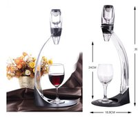 wine glass box - hot Sale Wine Aerator Tower Gift Box Set Red Wine Aerator Magic Decanter Wine Aerating Decanter Bottle Glass