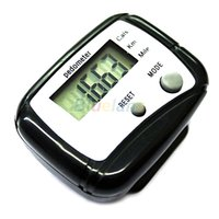 Wholesale 1pc Black LCD Pedometer Step Calorie Counter Walking Distance Sport Pedometer LT