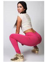 Cheap New women super elastic motion tight pants high waist leggings in candy colors yoga pants