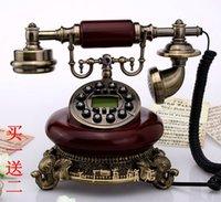 antique wood telephone - Fashion fashion antique telephone imitation wood telephone vintage household quality antique telephone