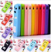 beans box - 3D Cartoon M M Defender Rainbow Beans Smile Silicone Case for iPhone Samsung Galaxy A3 A5 A7 E5 E7 Sony Z3 Z4 LG G2 G3 retail box