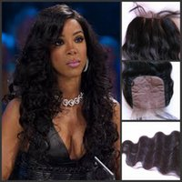 """Cheap Crazy Hot Brazilian Unprocessed Virgin Human Hair 8""""-20"""" Natural Color 4*4 Silk Base Lace Closure Silky Body Wave Hair Extensions"""