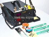 Wholesale 220V V Saike D Hot Air Rework Station Hot air gun soldering station BGA De Soldering in with of accessories