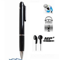 Wholesale N16 GB Dictaphone Pen Style Real Weiting Digital Audio Voice Recorder with MP3 Player in retail box