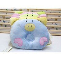 Wholesale Hot baby pillow infant shape Toddler pillow Infant bedding print pig shape cotton baby shaping pillow For Sale