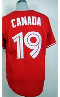 team canada jerseys - 30 Teams Toronto Blue Jays Canada Red Baseball Jerseys Jerseys