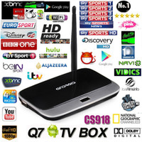 Wholesale 900 Live Streaming Channel CS918 Q7 MK888 Quad Core Android TV Box RK3188 GB GB Cortex A9 Smart TV Box HD1080P Arabic IPTV Box