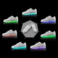 Wholesale 7 Colors LED Light Shoes Luminous Shoes Unisex Smeakers Colorful Glowing Leisure Flat Shoes USB Charging Light Shoes