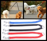 Wholesale 300Pcs High Quality Nylon Double Dual Coupler Lead Pet Dog Walking Leash TB031