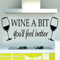 american din - Wine A Bit Vinyl Wall Art Wall Quote Sticker ZY8209 Dinning Kitchen Removable Decor Mural Decals