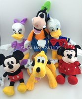 Wholesale 6pcs set Mickey And Minnie Mouse Plush Toy Donald Duck And Daisy GOOFy Dog Pluto Dog Toys for Children Plush Toys Christmas Gift A5