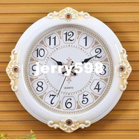 art deco watch - 100 real picture Living room European style wall clock silent clock creative wall neoclassical table quartz watch large bedroom Art Deco