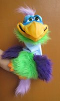 axtell puppet - VERN THE BIRD PRO quot Latex head to tail funny puppet from axtell expressions