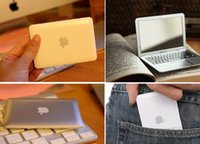 Wholesale Hot selling White silver Mini Apple Macbook Air Notebook Tablet Beauty Makeup Cosmetic Pocket Face Compact Mirror z0054