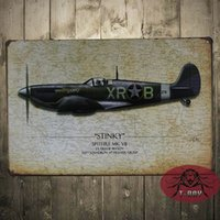 airplane metal signs - Christmas Decoration Metal Craft The airplane paintings Tin Sign Bar Decor Wall Metal poster