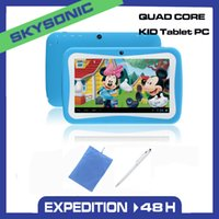 Wholesale Children Kids tablet pc android tablet pc inch Quad Core x600 MB GB wifi Educational Games App for children birthday gift