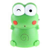 auto lock door knob - Green Infrared IR Sensor Auto Welcome Device English Meter Range Door Ring Lovely Cartoon Frog Design Doorbell order lt no track