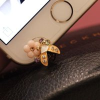 arrival ladybug - New arrival summer cute ladybug flowers front dust plugs phone decoration W1374