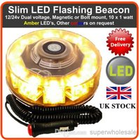 auto recovery - UK STOCK Universal V led strobe lights Car Auto LED BEACON Emergency Recovery Flashing Warning Strobe Lights Amber