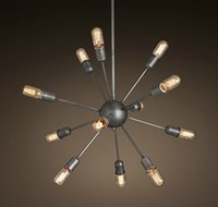 bar and counter - RH Loft Metal Material Star Shape Black and White Bar Counter Home Decorative Vintage Pendant Foyer lighting18 Heads light