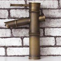 bamboo vessel sinks - Antique brass bathroom washbasin faucet bronze bamboo vessel sink tap mixer single handle robinet antique