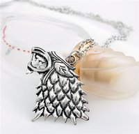 animals song - Hot Song of Ice and Fire Wolf Necklace and Key Chains Game of Thrones Unisex Character Printing Dragon and Wolf Necklace