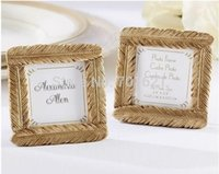photo frame gifts - wedding favor and wedding gift Newest Style Resin Gold Feather Frame Baby shower Favors Photo Frame