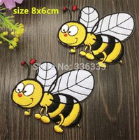 NOUVEAU bee nice - nice bee Embroidered patch iron on Motif sew on iron on Applique DIY accessory
