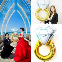Ballon and Lantern big fashion rings - 43 Inches Funny Big Diamond Ring Balloon New Fashion Party Wedding Decorations Diamond Ring Balloon Make a Proposal Wedding Gifts