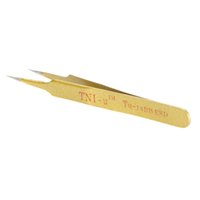 Wholesale Stainless Steel Tweezers Tools Ferramentas TU BB Golden ESD Tweezers Anti static Nonmagnetic Super Fine Tip Straight Tweezers
