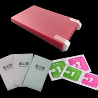 alcohol paper - 8 quot inch Universal x100mm Anti scratch Clear Phone Tablet PC GPS Screen Protector Guard Film Alcohol Papers Dust Absorber